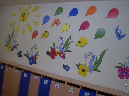 Украшение участка детского сада фото